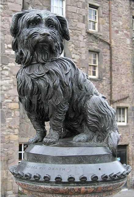памятник собаке Бобби в Эдинбурге в Шотландии