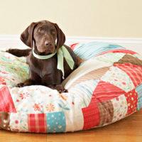 Как сшить постельку для собаки