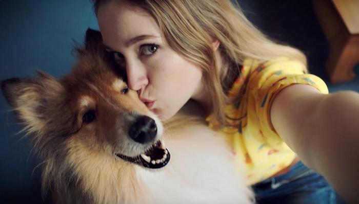 как получить удачный кадр в селфи с собакой